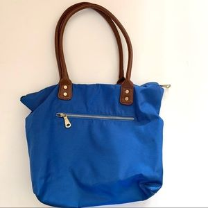 Old Navy Blue Nylon Zip Tote